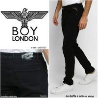 Celana jeans BOY LONDON Black basic 100% original anti luntur - hitam.