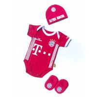 umper Bayi Karakter Club Bayern Munchen Set Topi Kupluk Sepatu Bayi