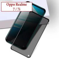 Oppo Realme 7 7i Anti Gores Spy Privacy Tempered Glass Screen Guard