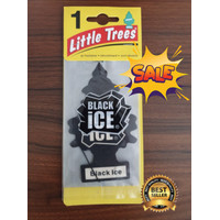 LITTLE TREES PARFUM PENGHARUM MOBIL CAR PERFUME 100% USA BLACK ICE