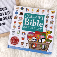 Look and Tell Bible Board Book (more than 10 well-known Bible stories)