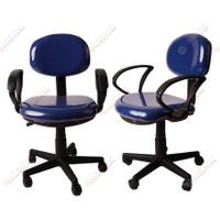 Kursi Sekretaris Kantor Busa Tebal S-Type plus arm rest - Biru