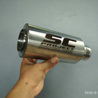 Knalpot Motor Racing SC Project full stainless silincer only
