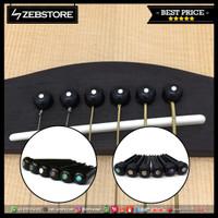 Paku Gitar Pin Bridge Akustik Acoustic Black Celulloid 6Pcs