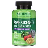 Naturelo Bone Strength Plant-Based Calcium Complex (120 Capsules)