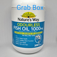 Natures Way Odourless Fish Oil 1000mg 200 tablet kapsul