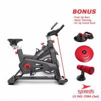 Spinning bike Sepeda Statis Olahraga Alat Fitness Elliptical 709A
