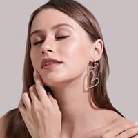 anting hati full diamond double love earrings jan210