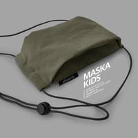 Pinnacle Maska Kids Olive - Masker Non Medis