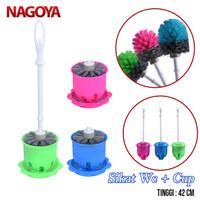 Sikat Kamar Mandi Kloset + Cup Sikat Wc Toilet Bulat Hakata 915 Nagoya