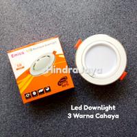 Lampu Led Downlight 5W Tricolor / 3 Warna Cahaya