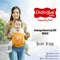 Gendongan Depan Dialogue Baby Ransel Ergo 3 in 1 Foxie Series DGG 4151