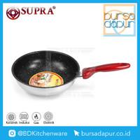 Supra Stainless Stir Wok/Wajan Impact Bottom Marble 24 cm Anti Lengket