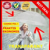 Payung Standard Transparan model japan / payung lipat foto pre wedding