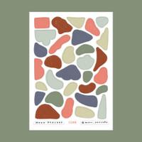 Moon Pancake Mini Sticker Journal Series - Abstract Shape Cone