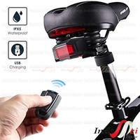 Lampu sepeda led charger Anti-Maling + Remote Alarm +Klakson 3 in 1