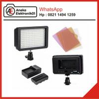paket Lampu Led Video Lighting HD-160 plus Baterai & Charger