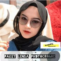 kacamata PHOTOCROMIC wanita/pria/hits/kekinian - Abu-abu, photocromic
