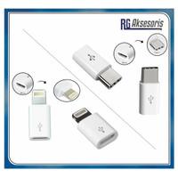 Adapter CONNECTOR ( Micro Usb To Usb 3.1 TYPE C / IPHONE) / KONEKTOR