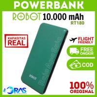 POWERBANK ROBOT 10000MAH RT180 - Powerbeng Powerbenk Pawerbeng Ori