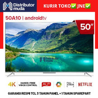 [KHUSUS CARGO] TCL Led Android Smart TV 50A10 4k UHD HDR 50 Inch