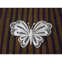 Bros Kupu-kupu Sepuh Perak Berbahan Dasar Tembaga Model BPT38