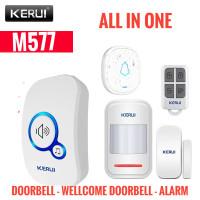 Alarm Bel Rumah Wireless Bel Pintu KERUI M577 Sensor Gerak Magnetik