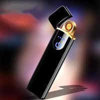 korek api elektrik unik bisa dicas usb lighter fingerprint HB-180