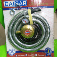 Selang Gas + Regulator Amper Meter Caisar 1,8 meter