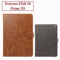 Evercoss ETab 10 Prime X9 Flip Leather Case Casing Book Cover Kulit
