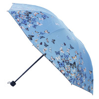 LOKO Payung LIpat NEW Butterfly Anti UV - Biru