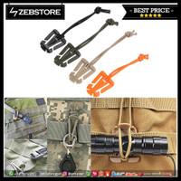 Carabiner Clip Gantungan Buckle Tas Bag EDC Molle Dominators Elastic