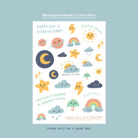 Moon Pancake Mini Sticker - Today will be a good day