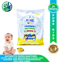 Pure Kids Antiseptic Wipes isi 20 - All Varian