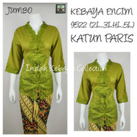 9522 Kebaya Encim Katun Paris Lengan 7/8 Kebaya Bordir Supplier Murah