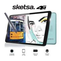 Advan Sketsa Tablet 10 Inci 4G 4GB/32GB FREE FLIP COVER+PEN STYLUSH
