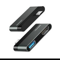 USB Type C HUB To HDMI Mini USAMS US-SJ462 original Hitam