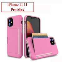 iPhone 11 11 Pro Max Hard Soft Case Casing Shockproof Slot Kartu Card