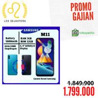 Samsung Galaxy M11 ram 3/32 termurah baru segel garansi resmi SEIN 1th - Hitam, A11 bonus case