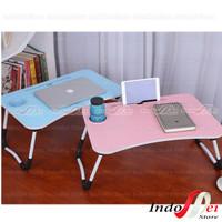 Meja Lipat Belajar Laptop Serbaguna / Meja laptop ALUMINIUM