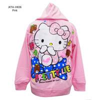 Jaket Sweater Anak Usia 6-10 Th S, M Karakter Hello Kitty (JKTA-HK06)