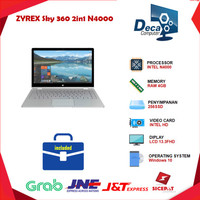 Laptop ZYREX Sky 360 2in1 Touch N4000 4GB 256ssd 13.3FHD