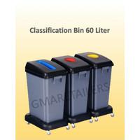 Tempat Sampah 3 Jenis Warna 60 Liter