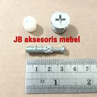 SKRUP BAUT MINIFIX NANAS 3 cm / MINIFIK MEBEL 30 mm SOCKET CASING