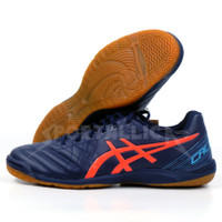 Sepatu Futsal Asics Calcetto WD 8 Peacoat/Flash Coral - 4.5