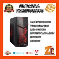 Pc Gaming/Editing Amd Ryzen 3 3200G VEGA8 8GB 120GB - 8 gb