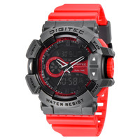 Jam Tangan Pria DIGITEC Analog Digital Strap Merah DG-2080T Original