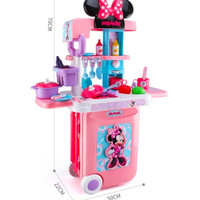 Mainan Anak Set Koper Troli Multifungsi 3 in 1 ~ MICKEY & MINNIE MOUSE