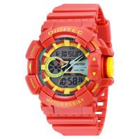 Jam Tangan Pria DIGITEC Analog Digital Tali Merah DG-2080T Original