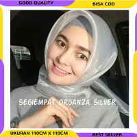Jilbab Segiempat Organza Hijab Organdi Kain Kaca Organza Kaca